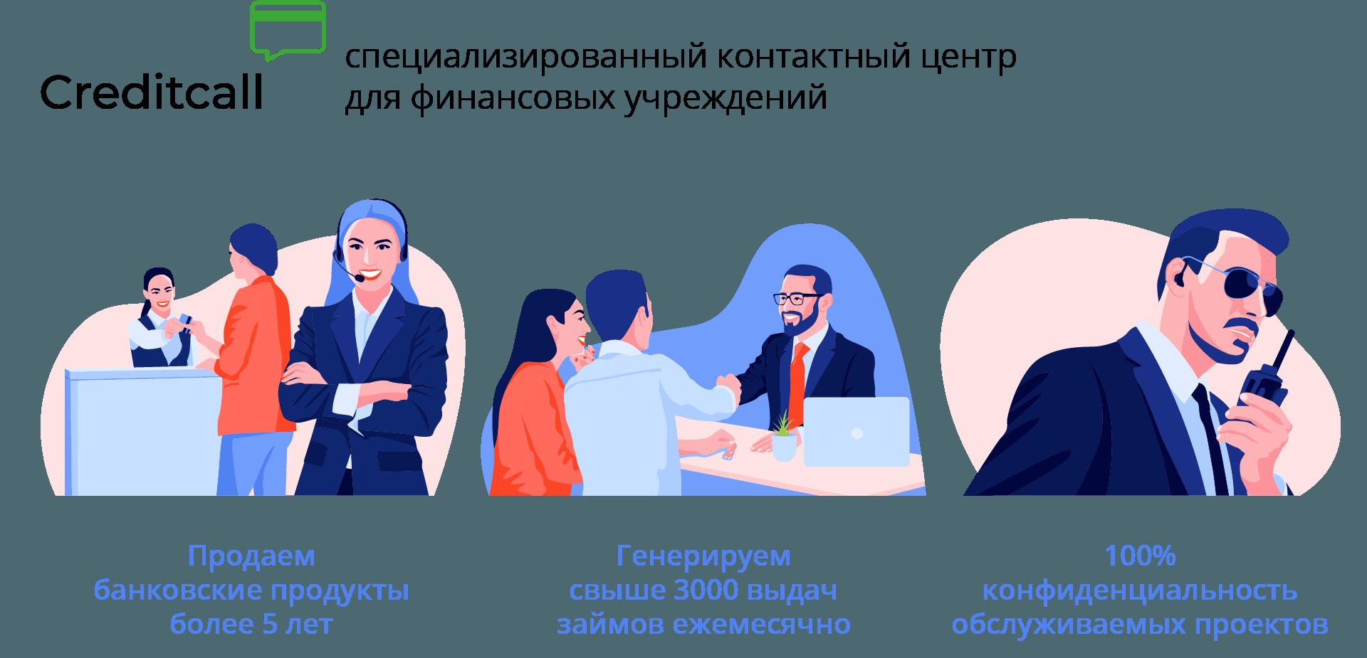 Контактный центр Creditcall: узкая специализация, широкая география
